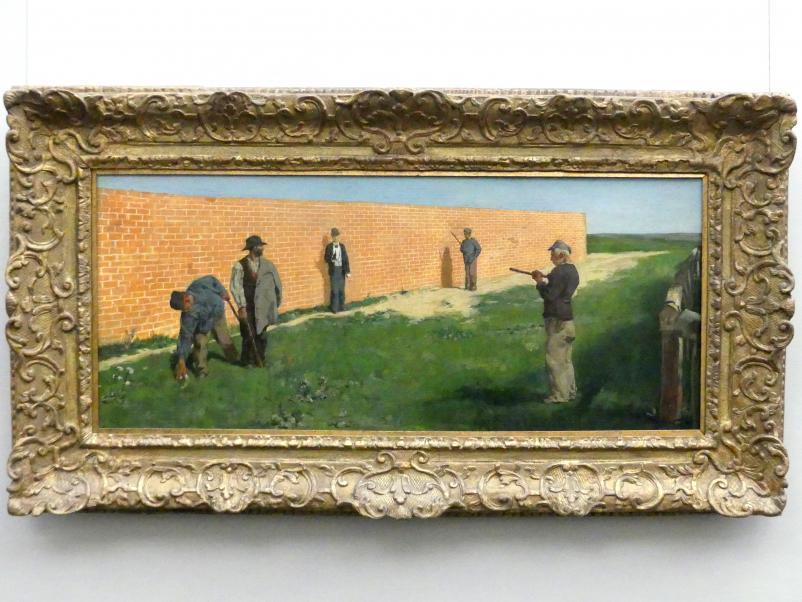 Max Klinger: Spaziergänger (Der Überfall), 1878