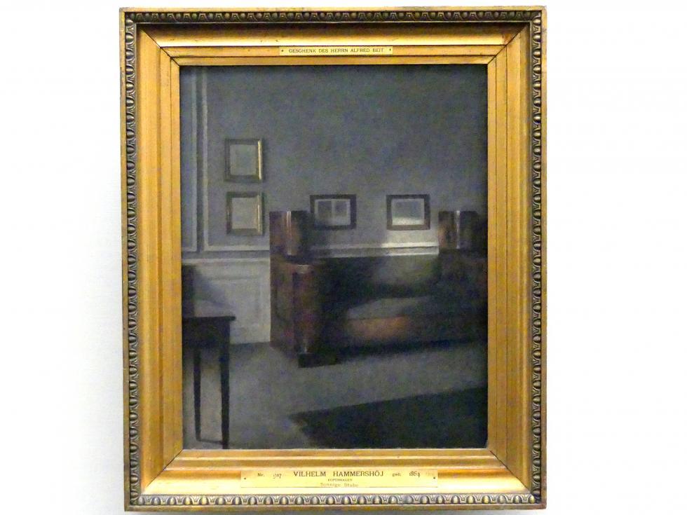 Vilhelm Hammershøi: Sonnige Stube, 1905