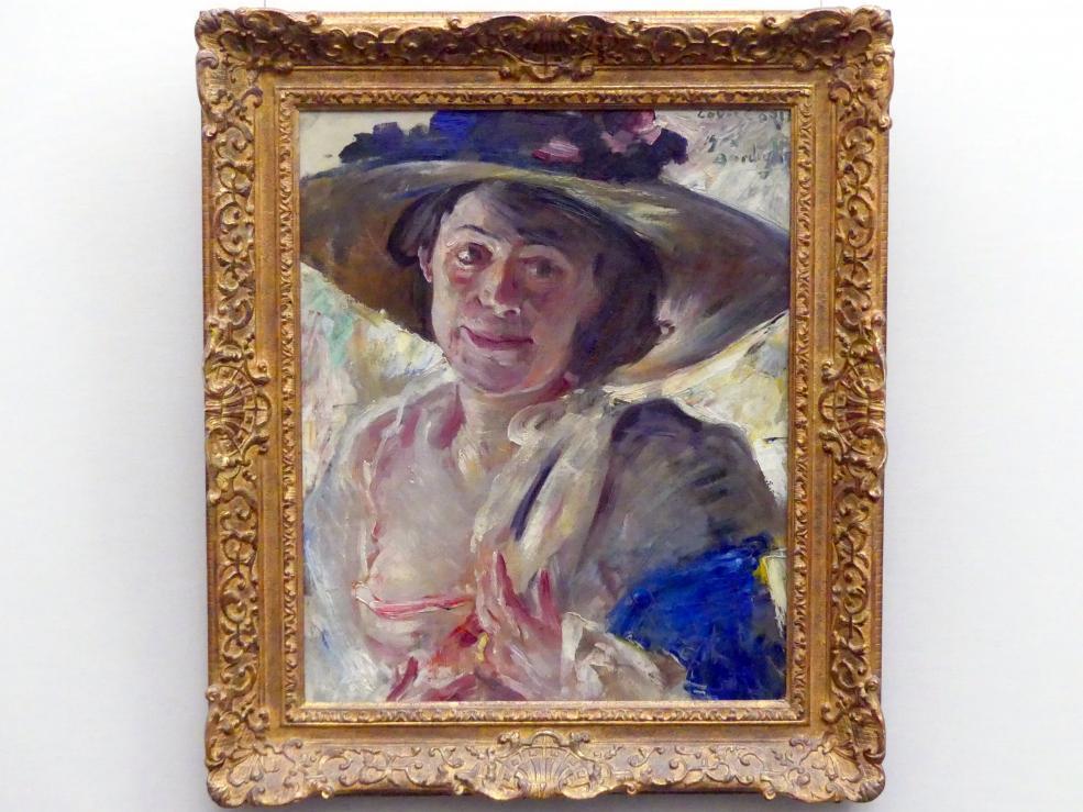 Lovis Corinth: Frau mit Rosenhut, 1912