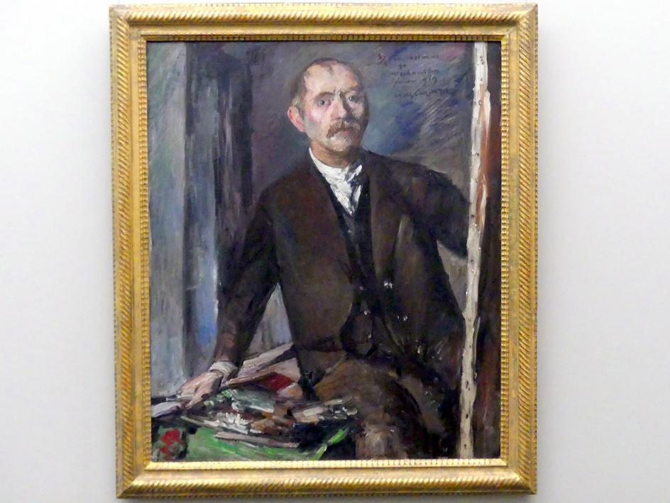 Lovis Corinth: Selbstbildnis vor der Staffelei, 1919