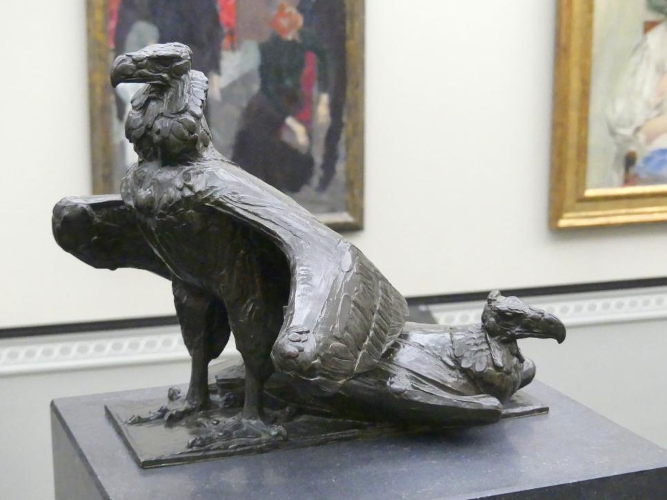 Rembrandt Bugatti: Zwei Geier, 1913