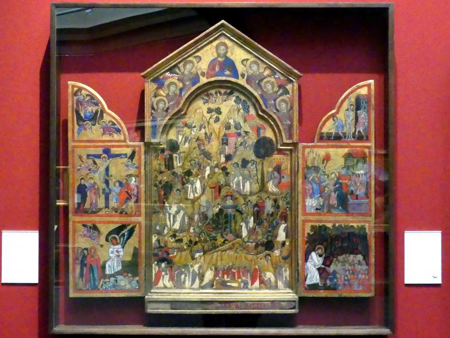 Grifo di Tancredi: Der Tod des hl. Ephräm, Szenen aus dem Leben der Eremiten, Passion Christi, um 1280 - 1290
