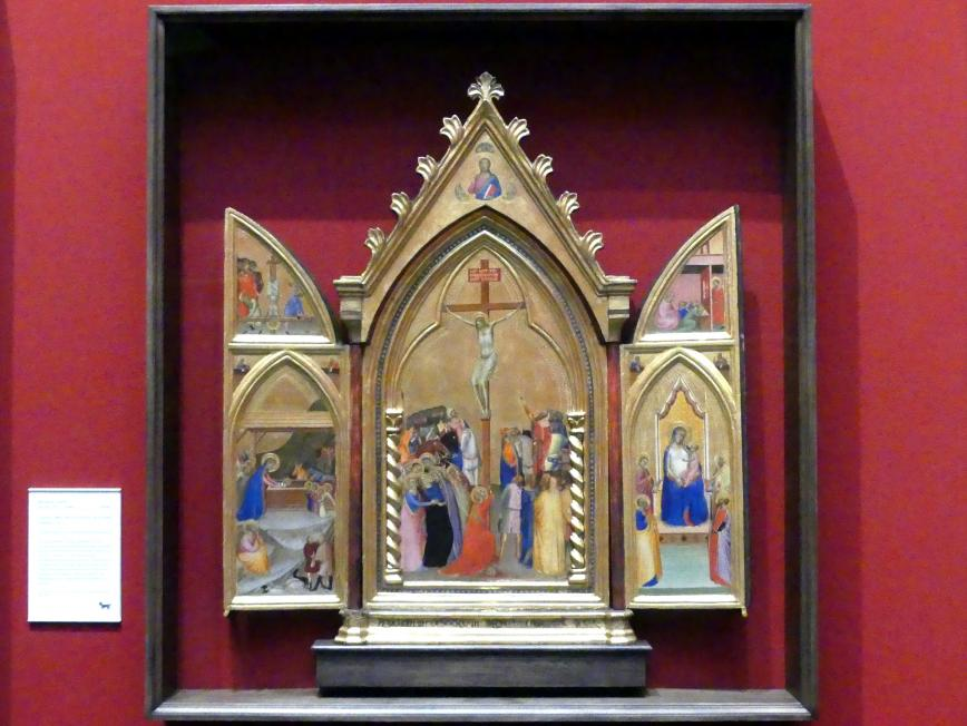 Bernardo Daddi: Triptychon mit der Kreuzigung und anderen Szenen, 1338