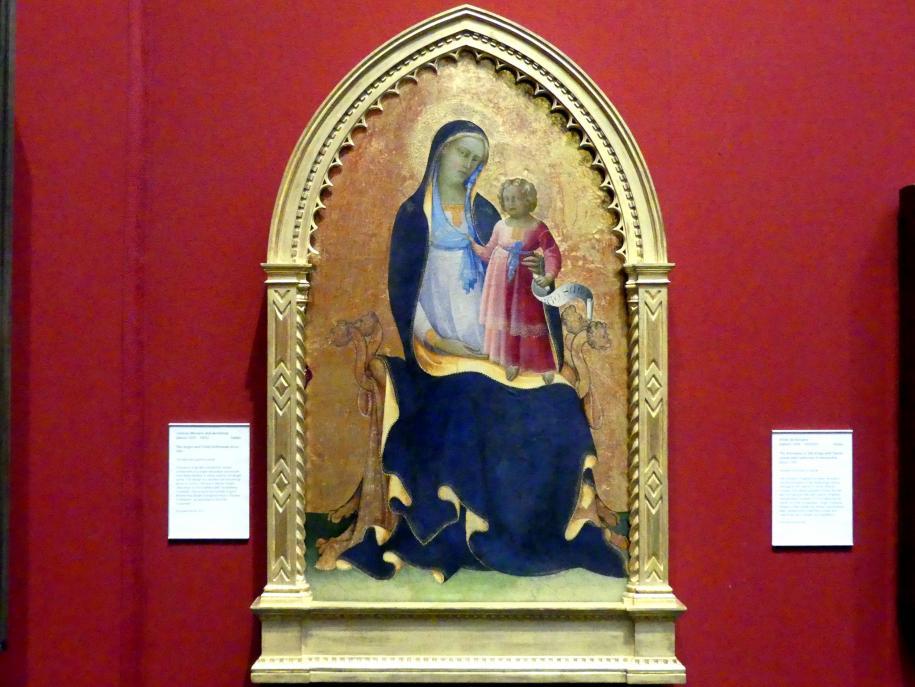 Lorenzo Monaco (Piero di Giovanni): Thronende Maria mit Kind, um 1415