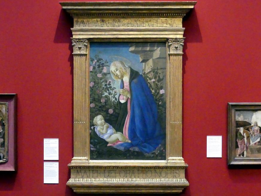 Sandro Botticelli: Die Jungfrau betet das schlafende Christkind an, um 1485