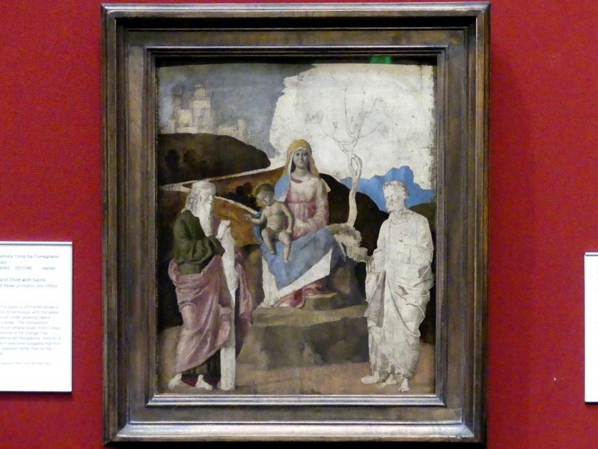 Francesco Bonsignori: Thronende Maria mit Kind, um 1490 - 1500