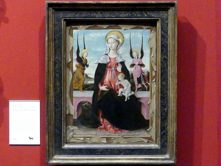 Maria mit Kind und zwei Engeln, um 1470 - 1480