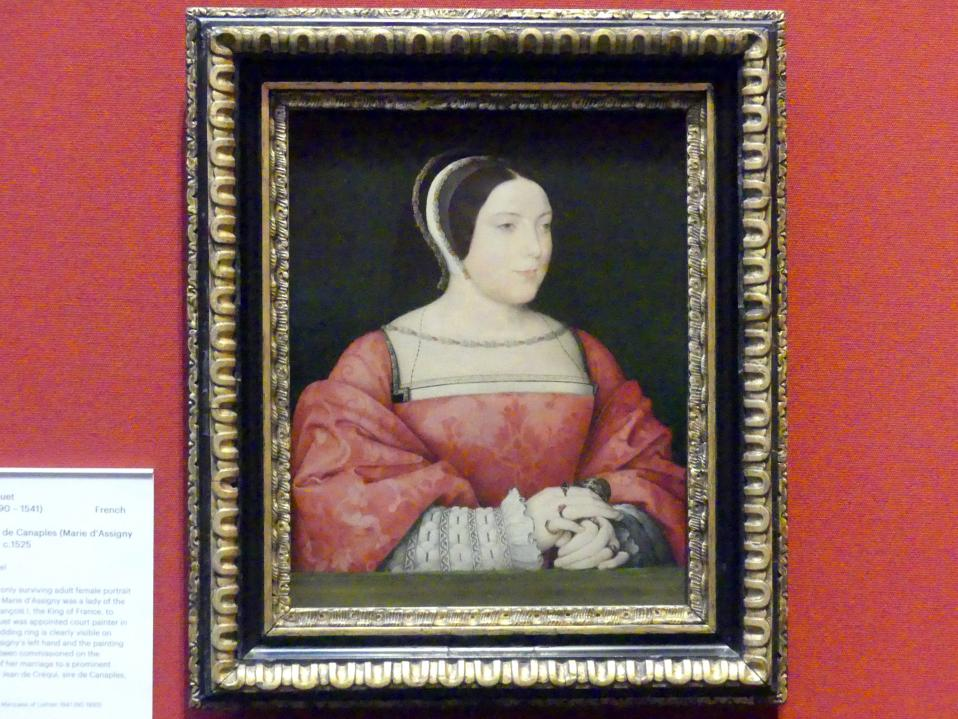 Jean Clouet: Madame de Canaples (Marie d'Assigny) (1502-1558), um 1525