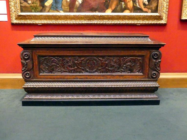 Domenico del Tasso: Cassone (Hochzeitstruhe), um 1500