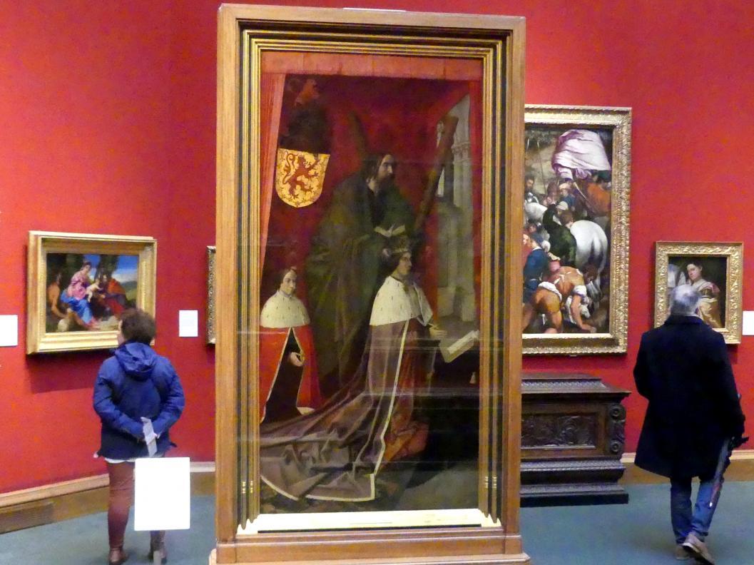 Hugo van der Goes: James III. von Schottland und sein Sohn James IV., um 1478 - 1479