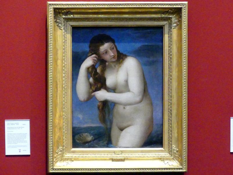 Tiziano Vecellio (Tizian): Venus steigt aus dem Meer (Venus Anadyomene), um 1520 - 1525