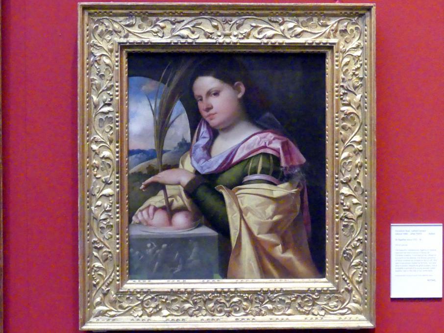 Giovanni Cariani (Giovanni Busi): Heilige Agathe, um 1512 - 1518