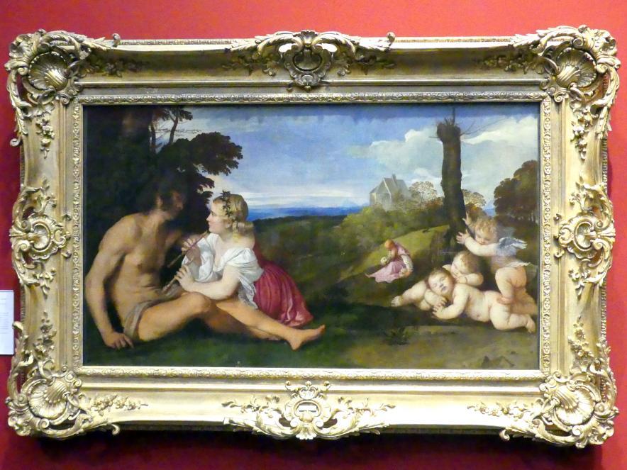 Tiziano Vecellio (Tizian): Allegorie der drei Lebensalter des Menschen, um 1512 - 1514