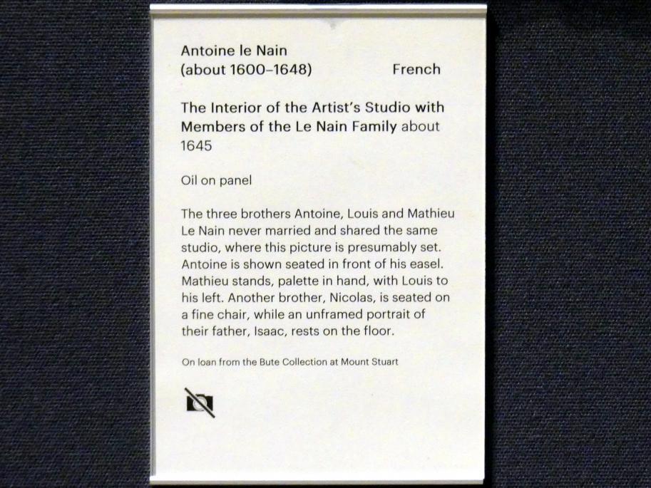 Antoine Le Nain: Das Atelier des Künstlers mit Familienmitgliedern, um 1645