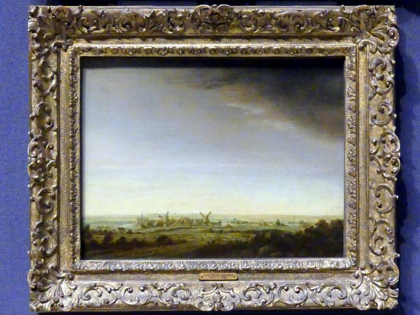 Hercules Pieterszoon Seghers: Landschaft mit zwei Windmühlen (Blick auf Wageningen), um 1630