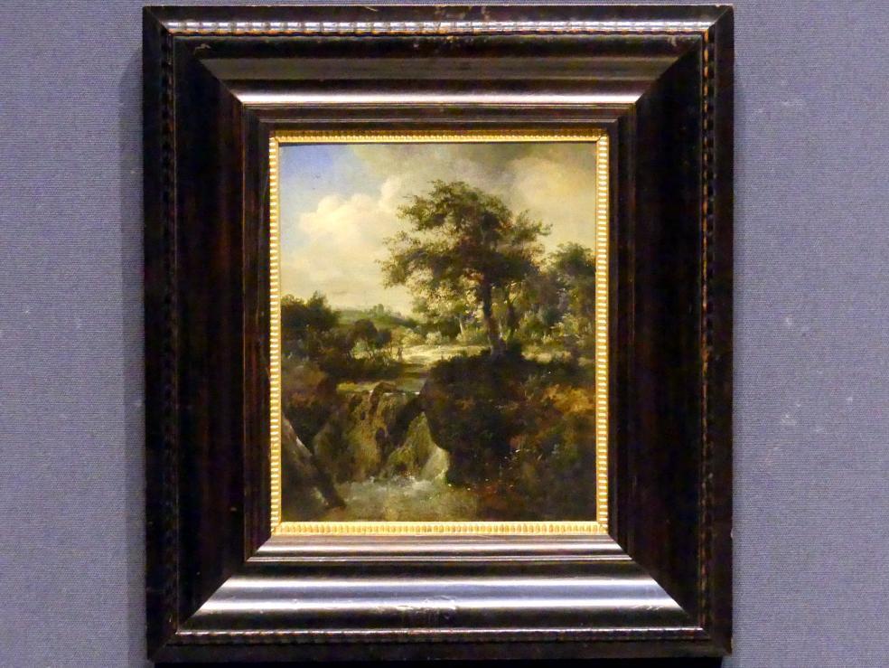 Meindert Hobbema: Wasserfall in einem Wald, um 1660 - 1670