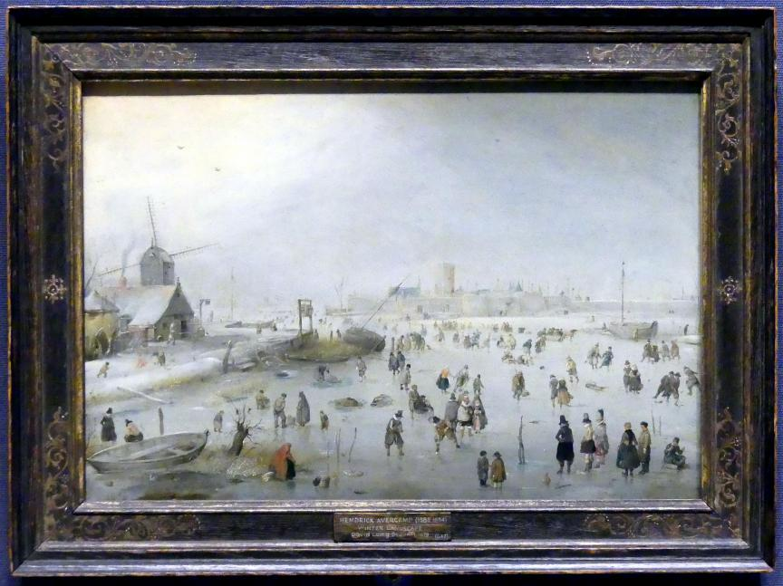 Hendrick Avercamp: Winterlandschaft, um 1610 - 1620