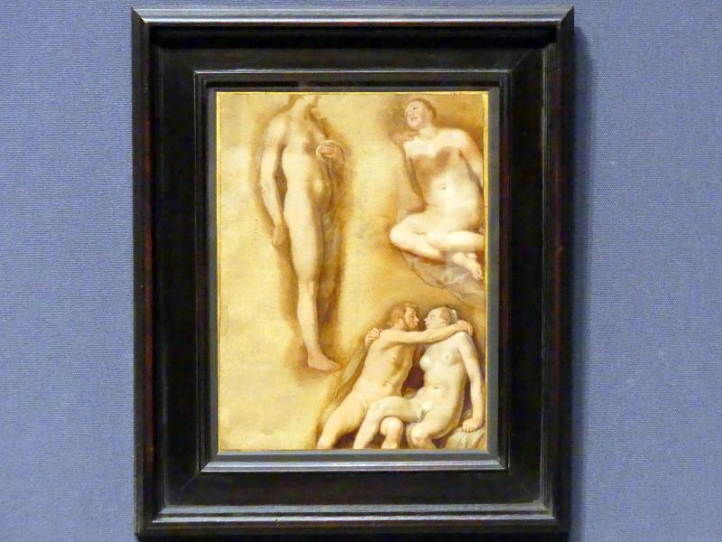 Cornelis van Haarlem: Figurenstudie mit einem sich umarmenden Paar, um 1627 - 1630
