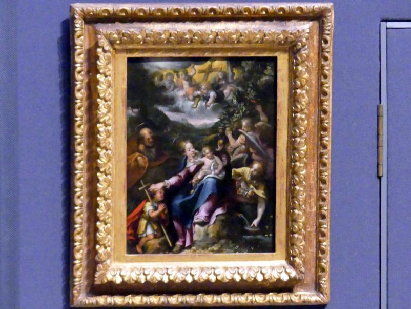 Denys Calvaert: Die Heilige Familie mit dem Johannesknaben, um 1590 - 1600