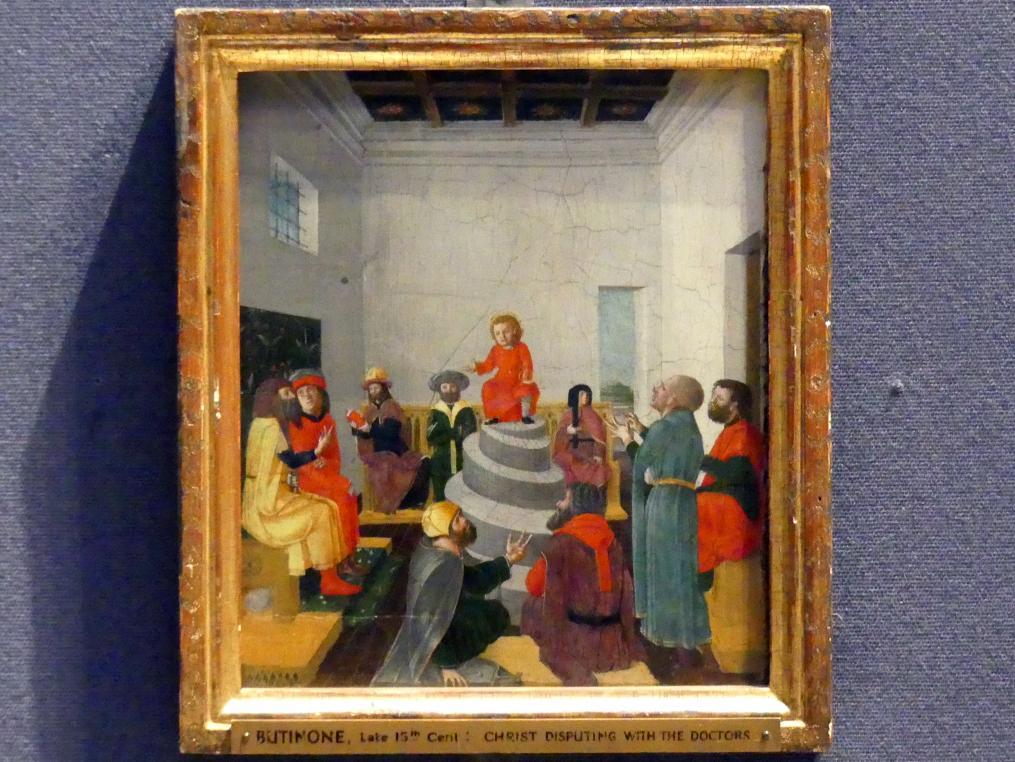 Bernardino Butinone: Jesus unter den Schriftgelehrten, um 1480 - 1485