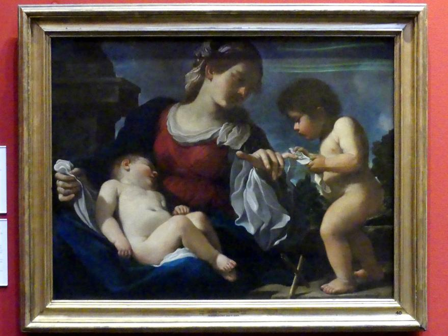 Giovanni Francesco Barbieri (Il Guercino) (Umkreis): Maria mit Kind und dem Johannesknaben, um 1615 - 1616
