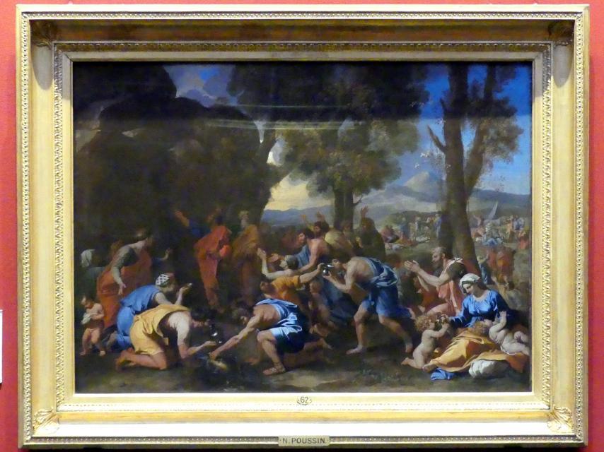 Nicolas Poussin: Moses schlägt Wasser aus dem Fels, 1637