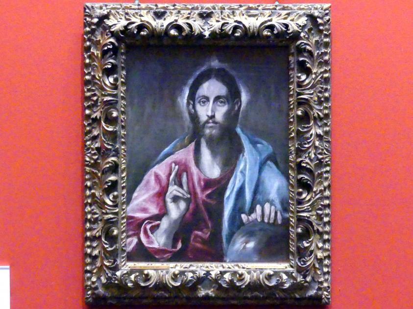 El Greco (Domínikos Theotokópoulos): Christus als Erlöser der Welt, um 1600