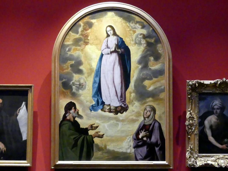 Francisco de Zurbarán y Salazar: Maria Immaculata mit den heiligen Joachim und Anna, um 1635 - 1640
