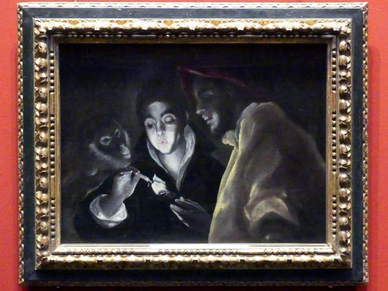 El Greco (Domínikos Theotokópoulos): Allegorie (Fabel), um 1590