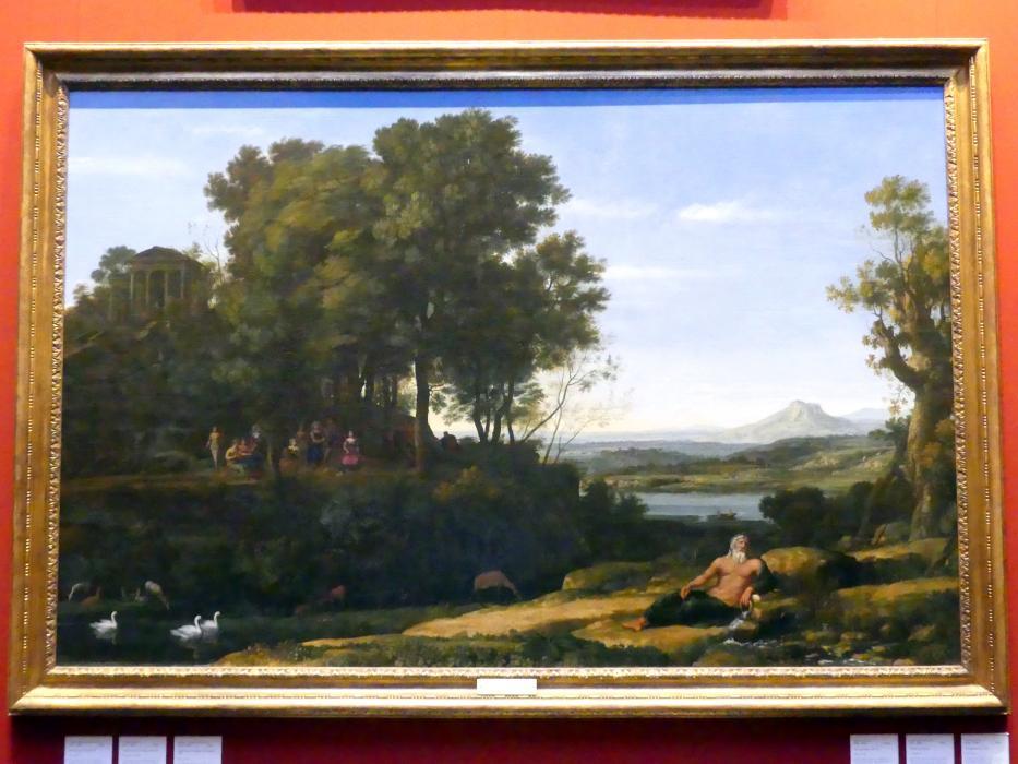 Claude Lorrain (Claude Gellée): Landschaft mit Apoll und den Musen, 1652