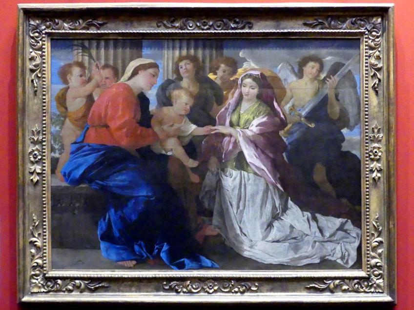 Nicolas Poussin: Mystische Vermählung der hl. Katharina, um 1629
