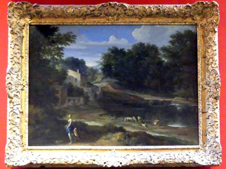 Gaspard Poussin (Gaspard Dughet): Klassische Landschaft mit Weiher, um 1650 - 1660