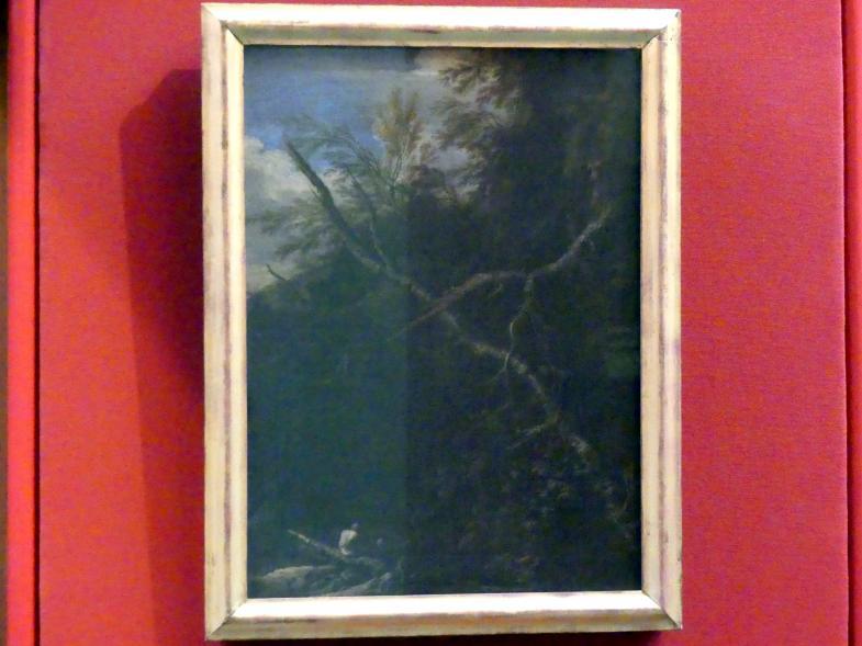 Salvator Rosa: Trostlose Landschaft mit zwei Figuren, um 1660 - 1663