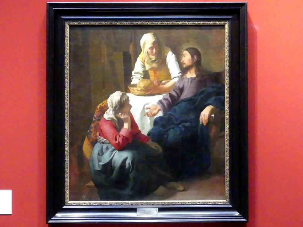 Jan Vermeer (Johannes Vermeer): Christus bei Martha und Maria, um 1654 - 1655