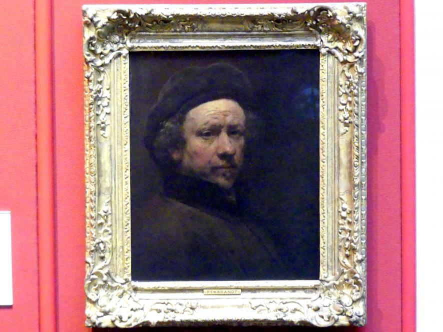 Rembrandt (Rembrandt Harmenszoon van Rijn): Selbstporträt, 1655
