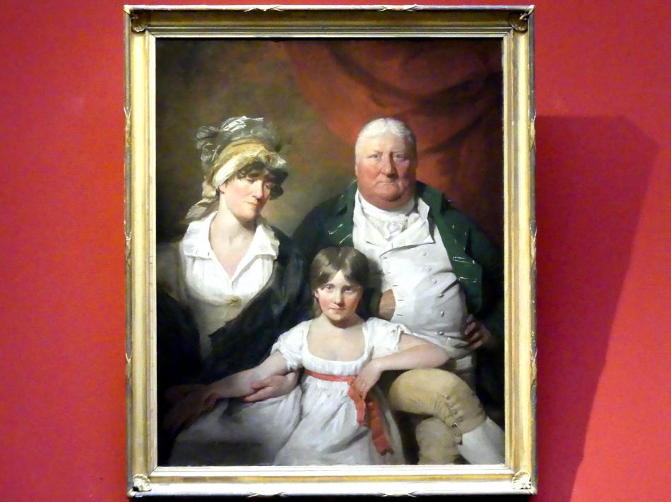 David Wilkie: William Chalmers Bethune, seine zweite Frau Isobel Morison und ihre Tochter Isabella Maxwell Morison, 1804