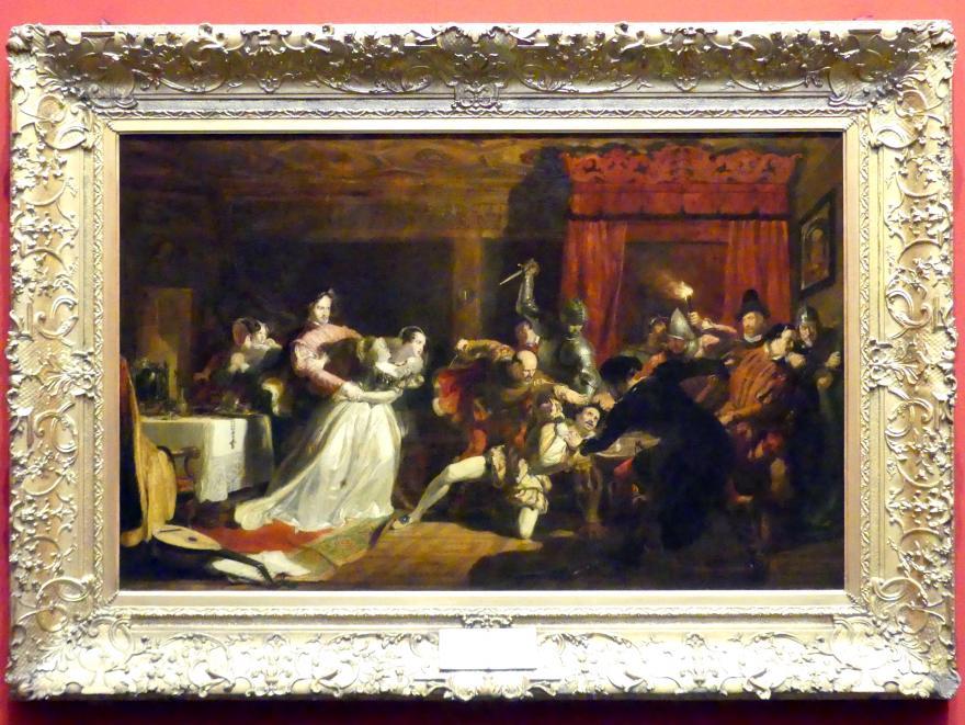 William Allan: Der Mörder von David Rizzio, 1833