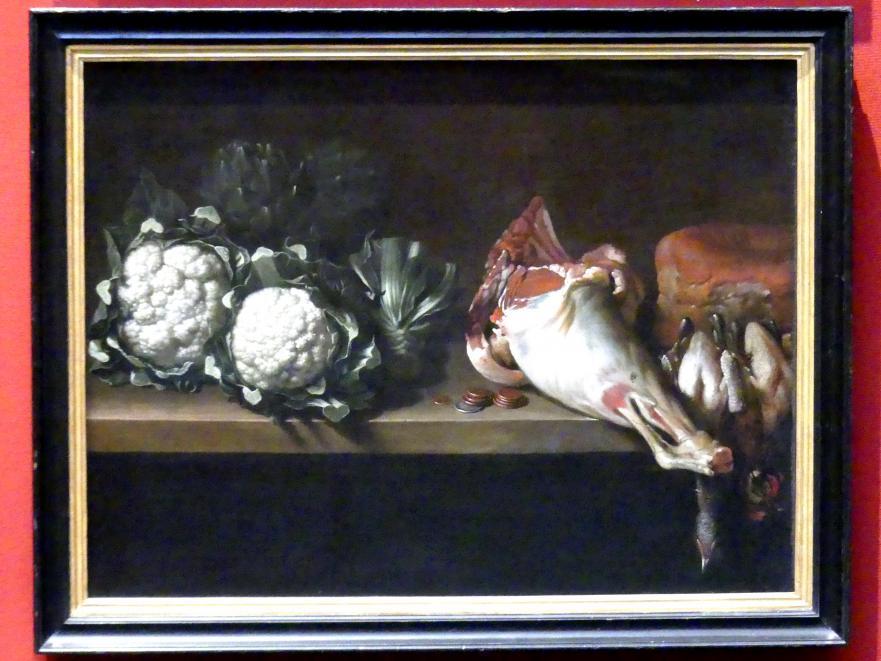 Richard Waitt: Stillleben mit Blumenkohl, Geflügel und einer Hammelkeule, 1724