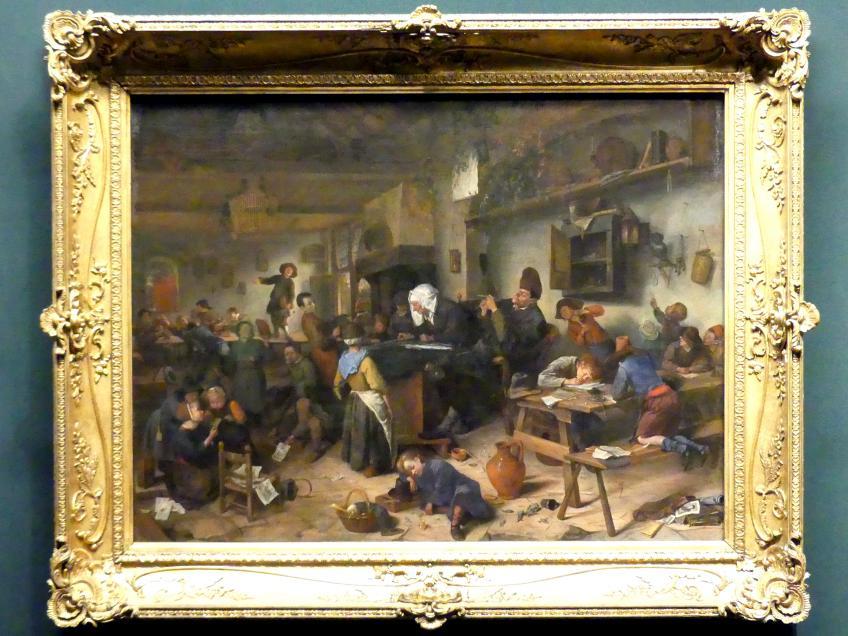 Jan Havickszoon Steen: Schule für Jungen und Mädchen, um 1670