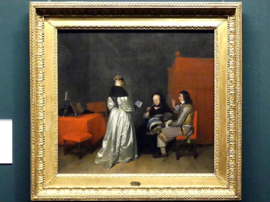 Gerard ter Borch: Gesangsstunde, um 1654