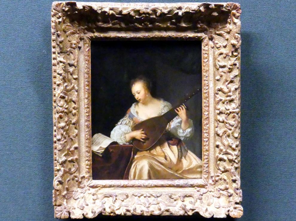 Frans van Mieris der Ältere: Lautenspielerin, 1663