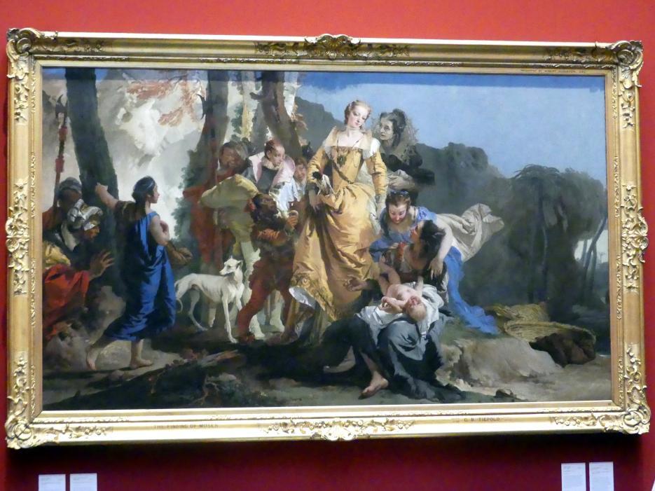 Giovanni Battista Tiepolo: Auffindung des Moseknaben, um 1730 - 1735