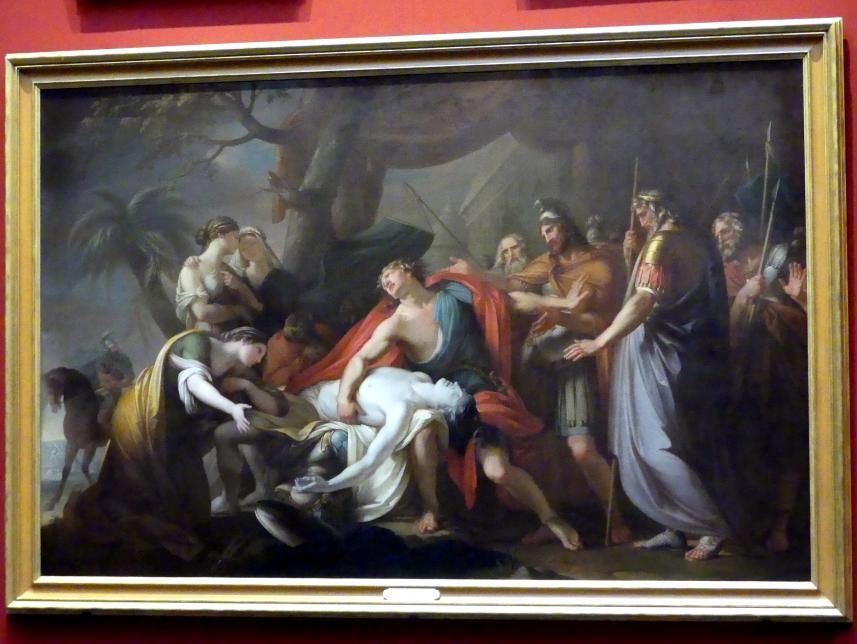 Gavin Hamilton: Achilles beklagt den Tod des Patroklos, 1763
