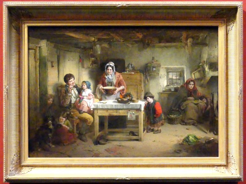 Thomas Faed: Zuhause bei den Heimatlosen, 1856