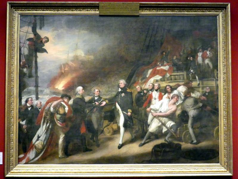 John Singleton Copley: Der Sieg von Lord Duncan (Kapitulation des niederländischen Admirals de Winter vor Admiral Duncan am 11. Oktober 1797), 1798 - 1799