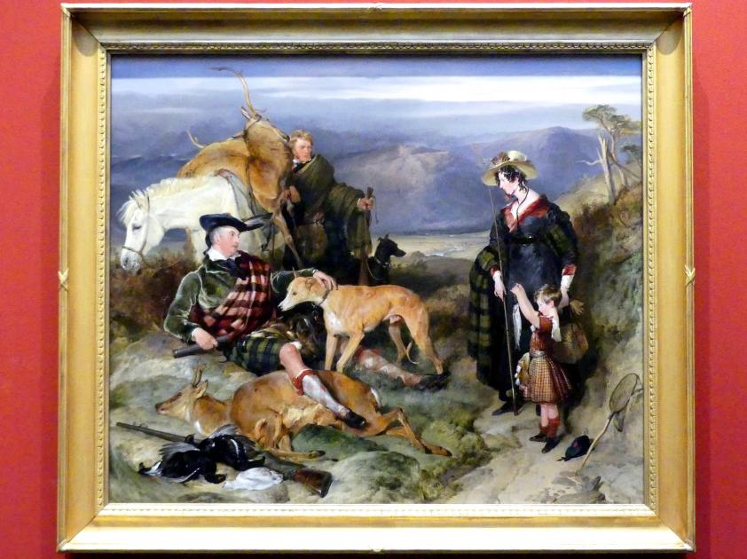 Edwin Landseer: Duchess of Bedford, Duke of Gordon und Lord Alexander Russell in einer Landschaft, um 1828, Bild 1/2