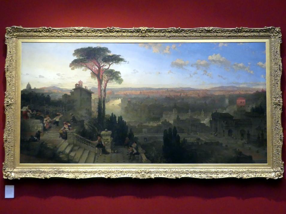 David Roberts: Sonnenuntergang über Sant'Onofrio al Gianicolo in Rom, 1855 - 1856