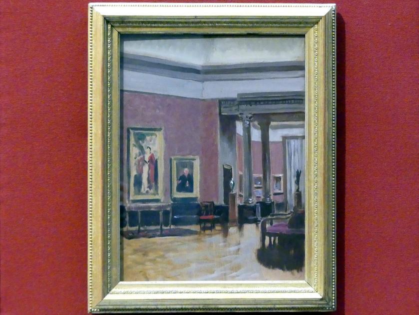 Stanley Cursiter: Interieur der National Gallery of Scotland, um 1938 - 1939