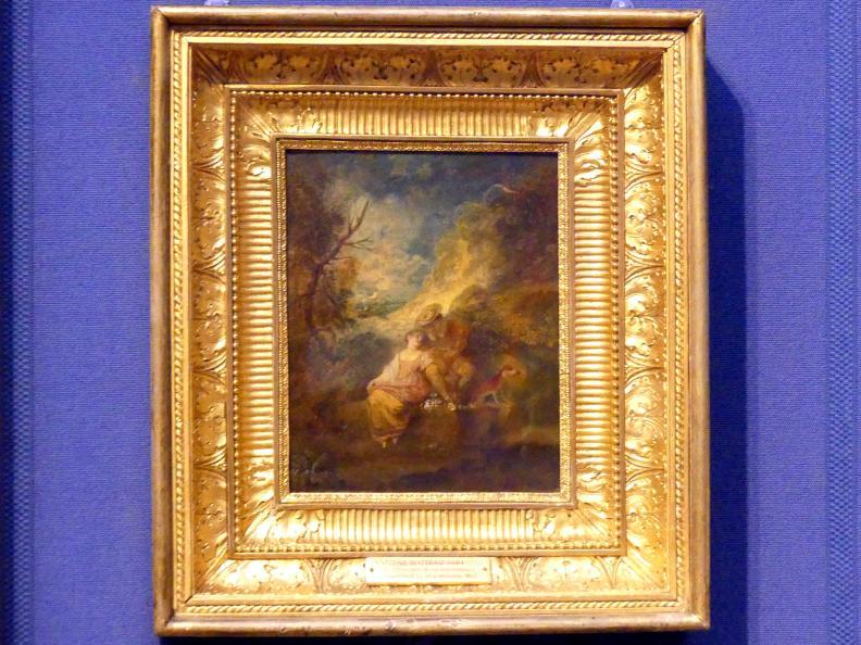 Antoine Watteau (Jean-Antoine Watteau): Der Räuber des Spatzennestes, um 1712