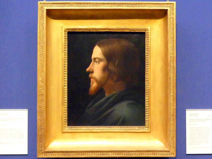 Paul Delaroche: Kopfstudie Jesu Christi (Bildnis des Eugène Buttura), um 1834